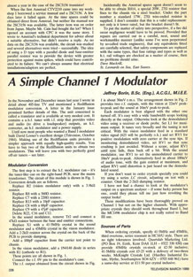 Scan1. Borin, J.D., 1989. A Simple Channel 1 Modulator. Television,39 (5), pp.338-339.